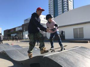 営業時間短縮 & スケートボードスクール